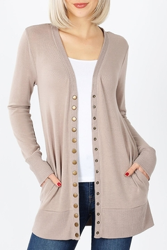 Zenana Outfitters Snap-Button Sweater Cardigan - Product List Image