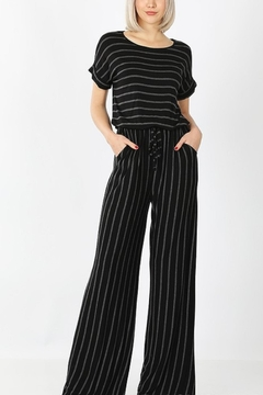 Zenana Outfitters Striped Jumpsuit - Product List Image