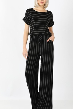 Zenana Outfitters Striped Jumpsuit - Alternate List Image
