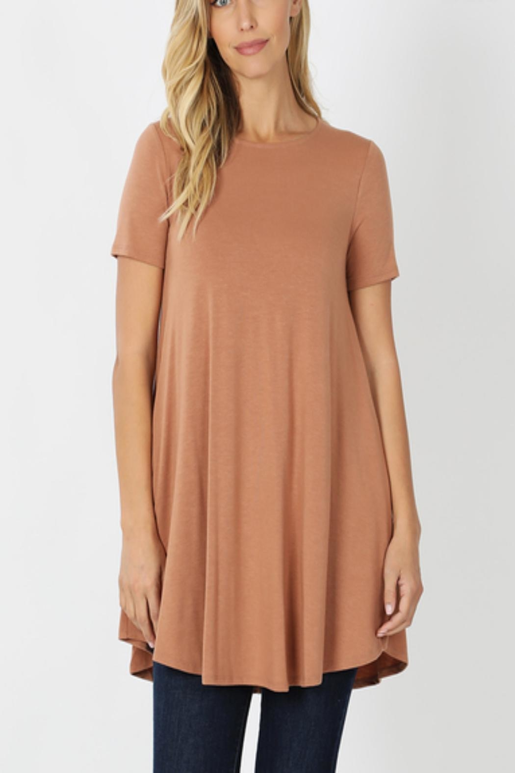 Zenana Outfitters T-Shirt Tunic - Front Cropped Image