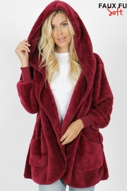 Zenana Outfitters Teddy Bear Jacket - Front cropped