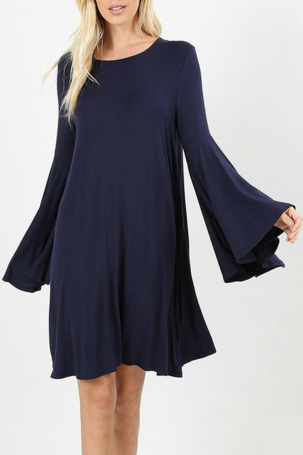 Zenana Outfitters Tory T-Shirt Dress - Front Cropped Image