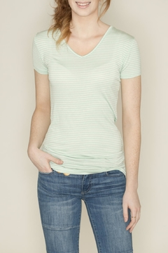 Zenana Outfitters V Neck Pinstripe Tee - Product List Image