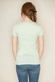 Zenana Outfitters V Neck Pinstripe Tee - Back cropped