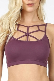 Zenana Outfitters Web Front Bralette - Front cropped
