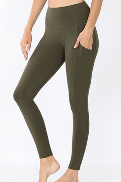 Shoptiques Product: Wide-Waistband Pocket Leggings