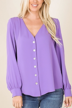 Zenana Outfitters Woven Button Shirt - Alternate List Image