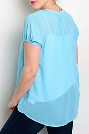 Zenobia Baby Blue Blouse - Front full body