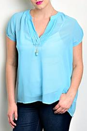 Zenobia Baby Blue Blouse - Product Mini Image