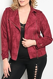 Zenobia Burgundy Jacket - Product Mini Image