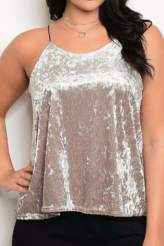 Zenobia Crushed Velvet Tank - Product List Image
