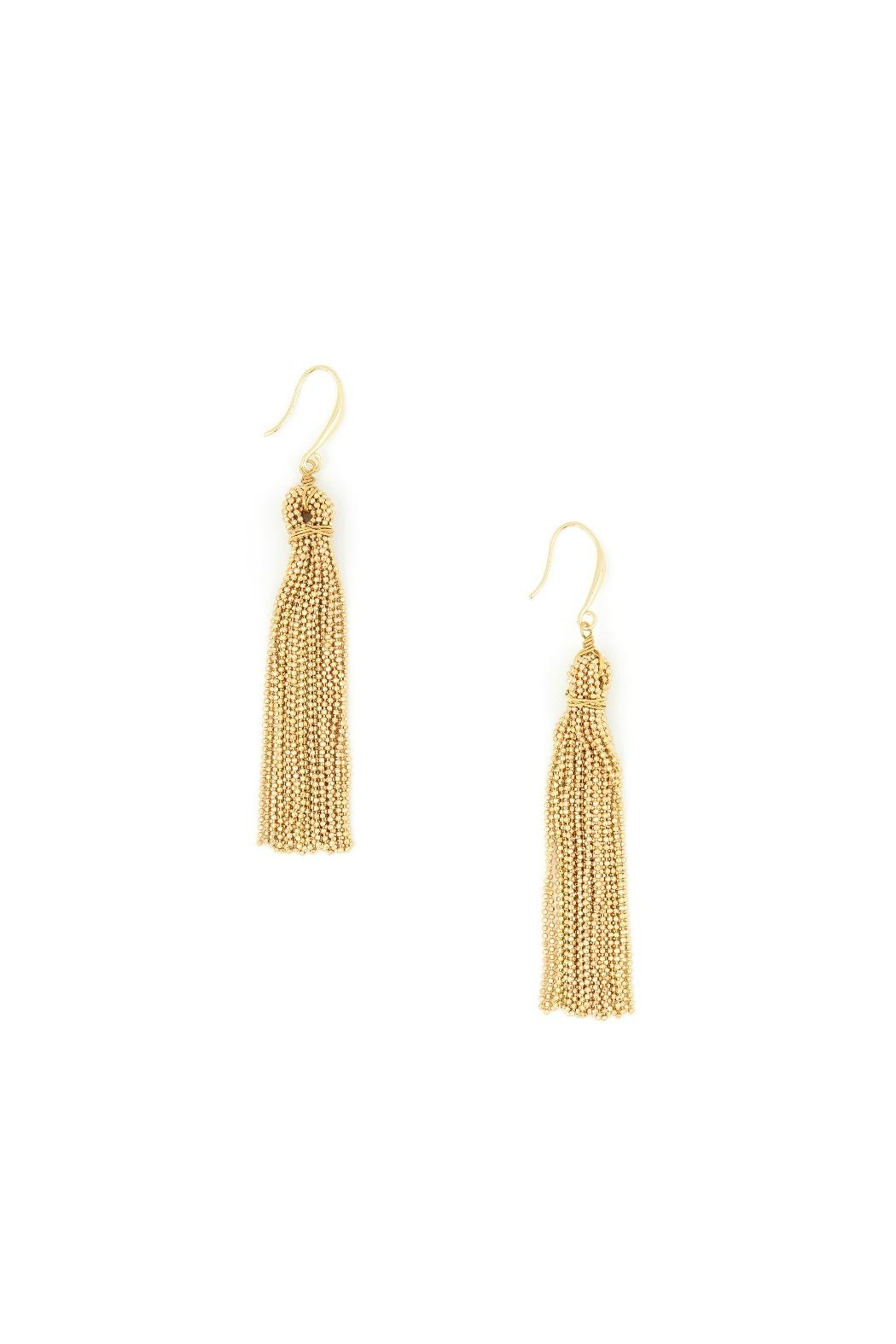 Zenzii Chain Tassel Earrings - Main Image