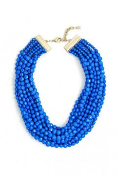 Shoptiques Product: Cobalt Beaded Bib
