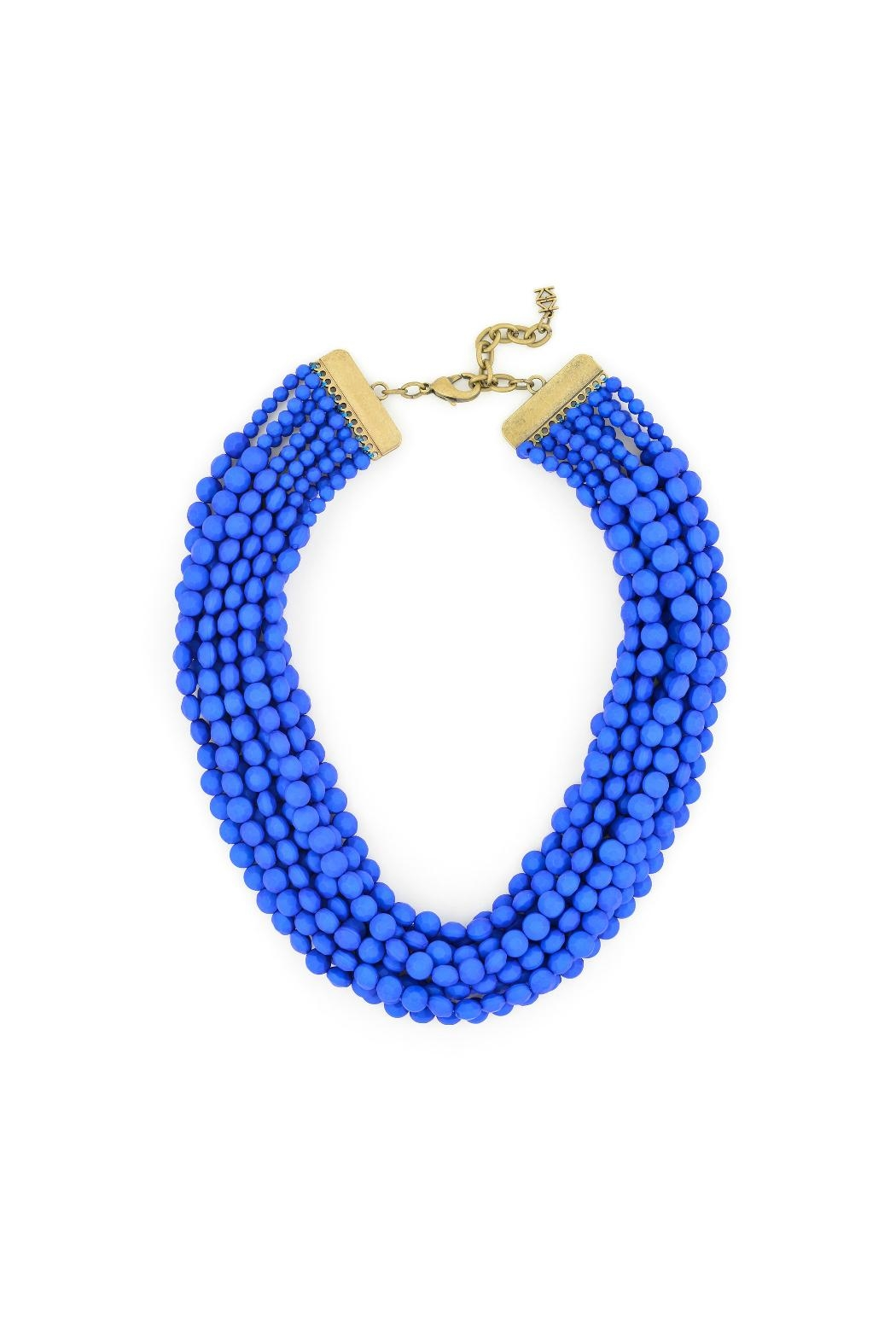Zenzii Cobalt Bib Necklace - Main Image