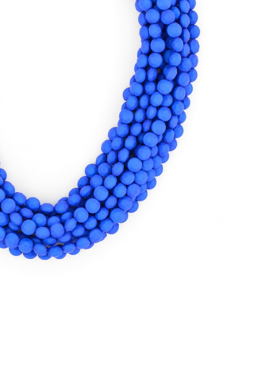 Zenzii Cobalt Bib Necklace - Front Full Image