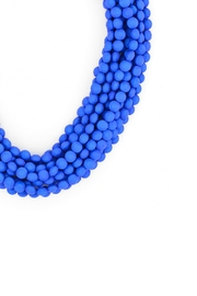 Zenzii Cobalt Bib Necklace - Front full body