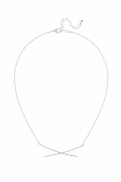 Zenzii Cross My Heart Necklace - Product List Image