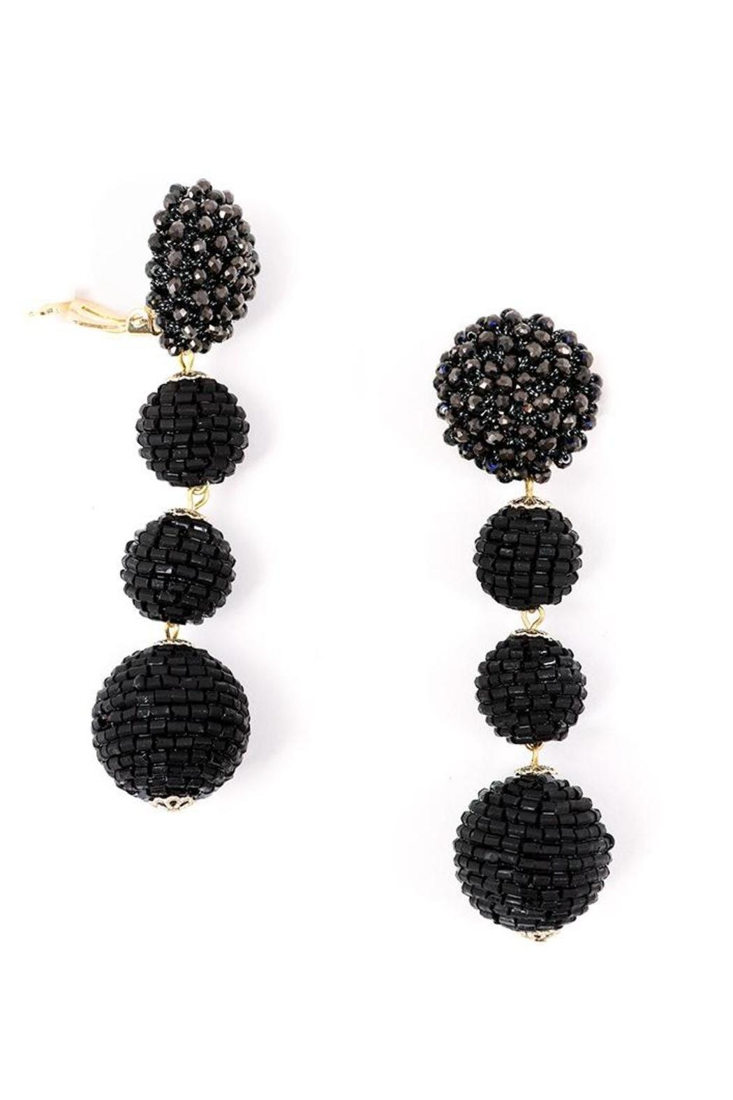 Zenzii Glam Ball Earrings - Front Full Image
