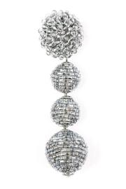 Zenzii Glam Ball Earrings - Front full body