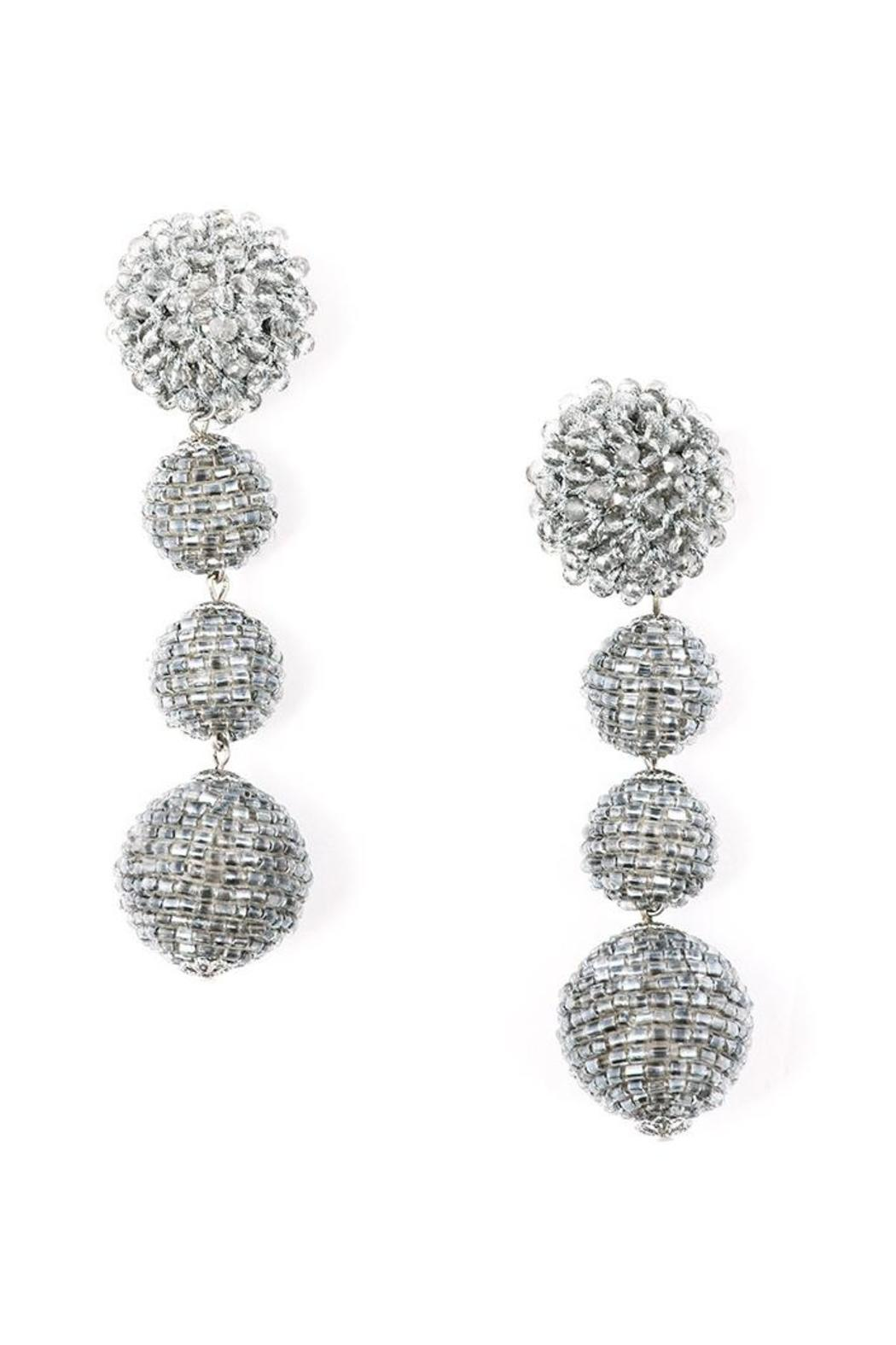 Zenzii Glam Ball Earrings - Side Cropped Image