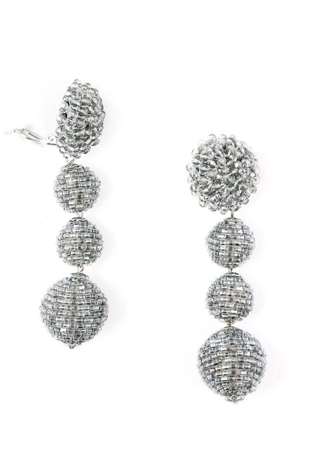 Zenzii Glam Ball Earrings - Front Cropped Image