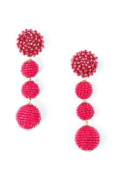 Shoptiques Product: Glam Ball Earrings
