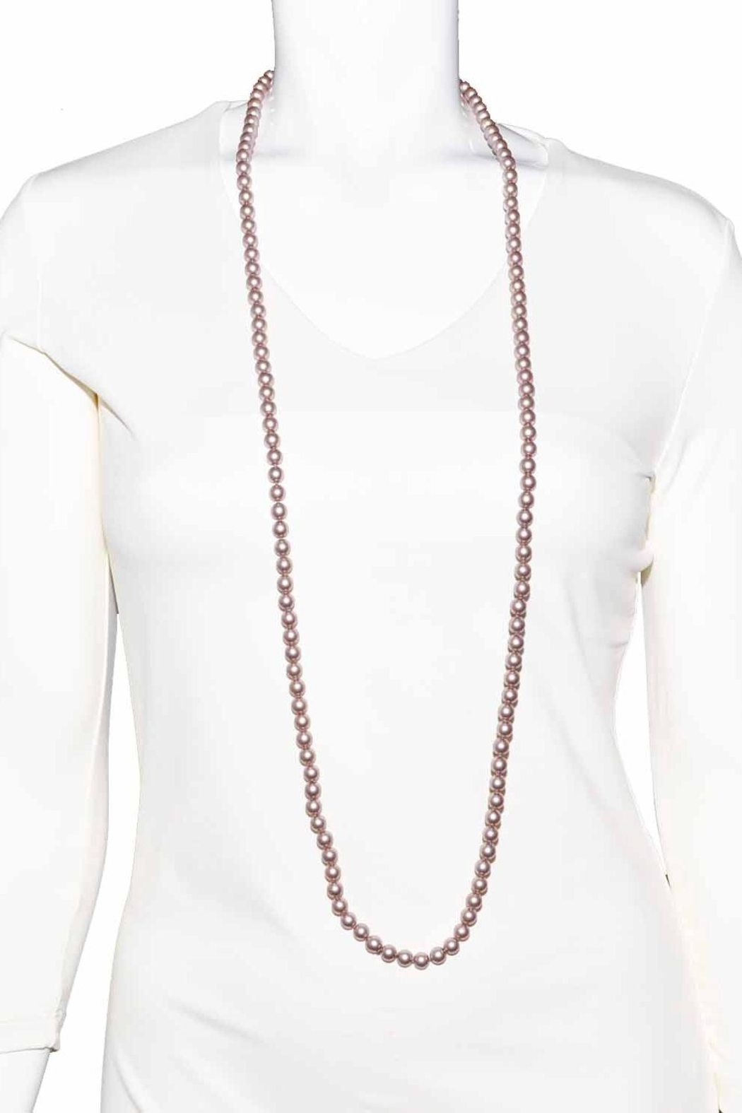 Zenzii Long Pear Necklace - Side Cropped Image