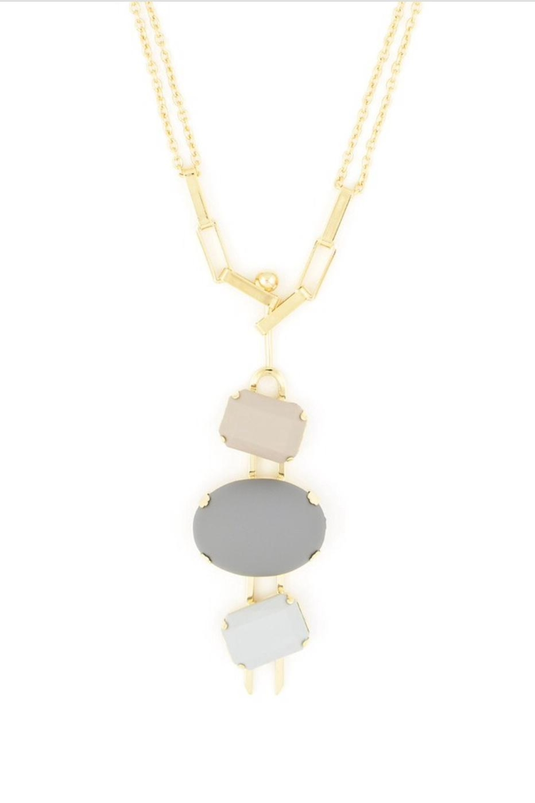 Zenzii matte shapes necklace from baltimore by freesia shoptiques zenzii matte shapes necklace front full image aloadofball Gallery