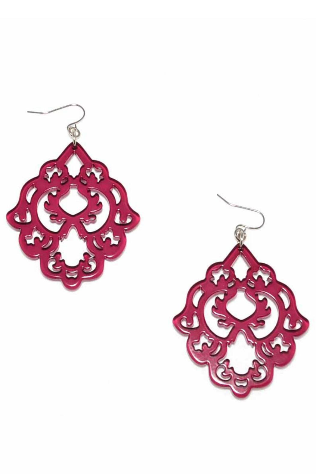 Zenzii Mulberry Statement Earrings - Front Cropped Image
