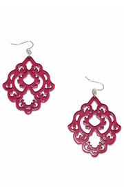 Zenzii Mulberry Statement Earrings - Front cropped