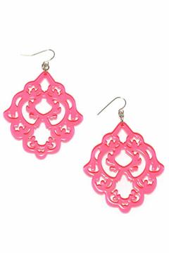 Zenzii Pink Statement Earrings - Product List Image