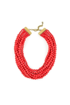 Zenzii Red Bib Necklace - Alternate List Image