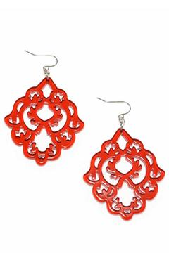 Zenzii Red Statement Earrings - Product List Image