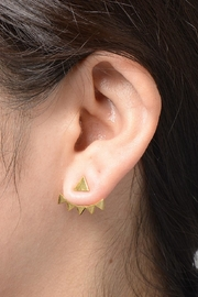 Zenzii Spiked Angles Earrings - Back cropped