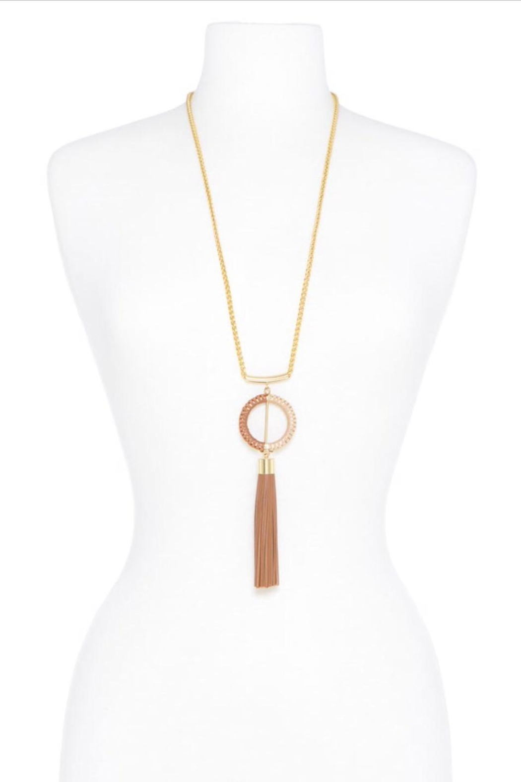 Zenzii Tassel Pendant Necklace - Side Cropped Image