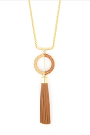 Zenzii Tassel Pendant Necklace - Front full body