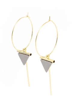 Shoptiques Product: Triangle Drop Earring