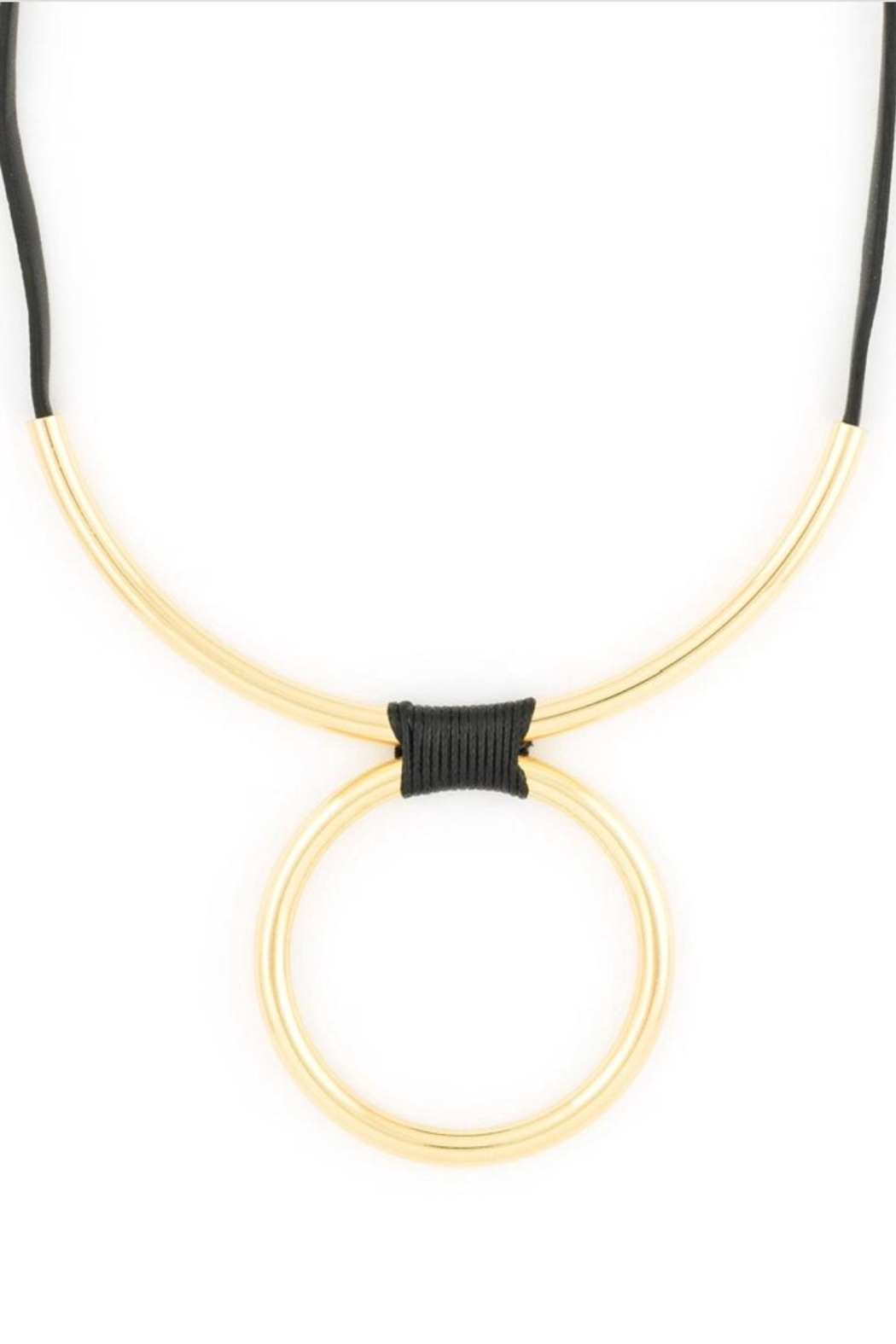 Zenzii Wrapped Bar Necklace - Front Full Image