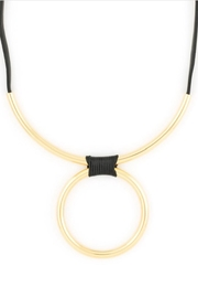 Zenzii Wrapped Bar Necklace - Front full body