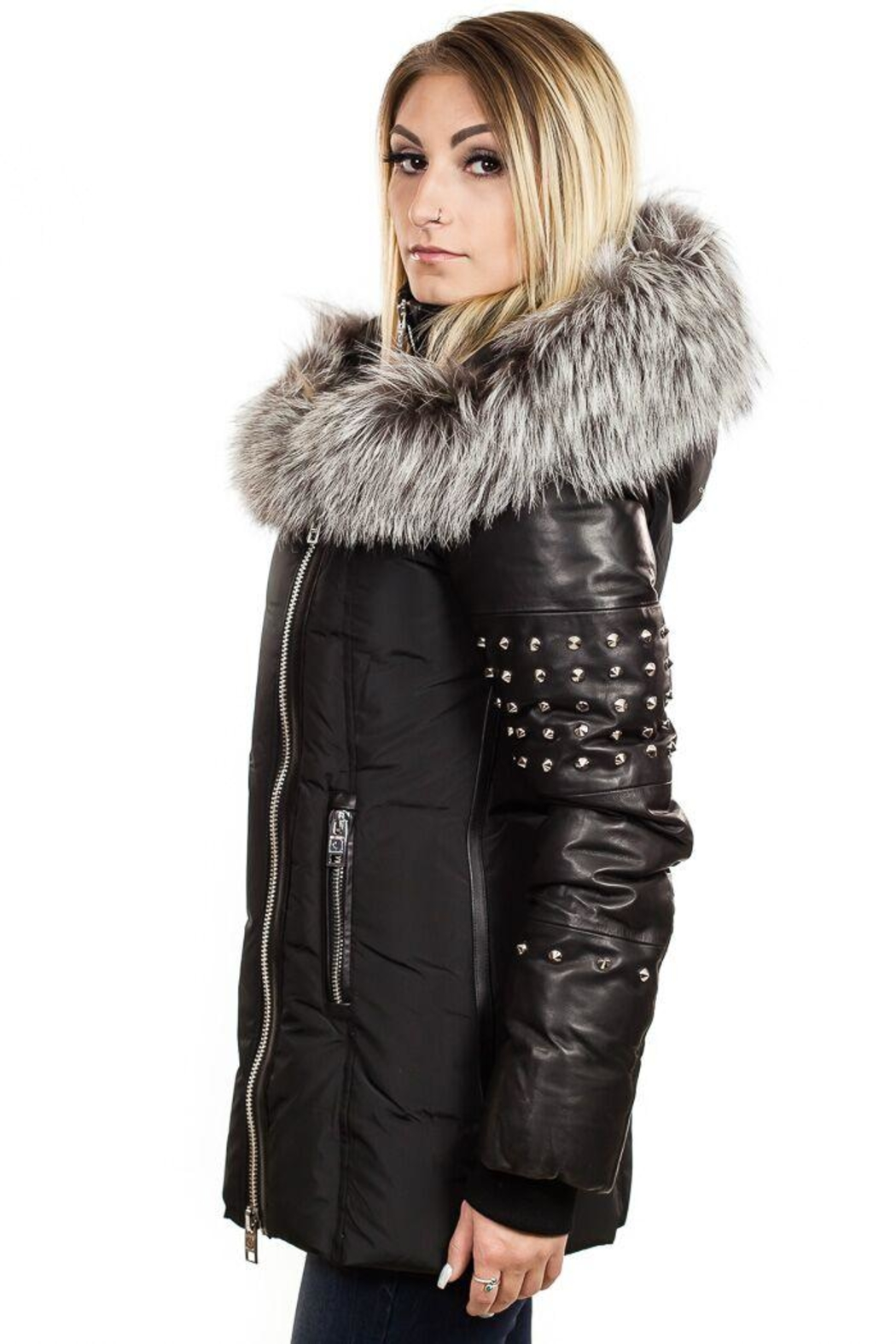 Nicole Benisti Zermatt Down Jacket - Side Cropped Image
