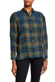 Johnny Was zhenya Shirt Plaid - Front cropped