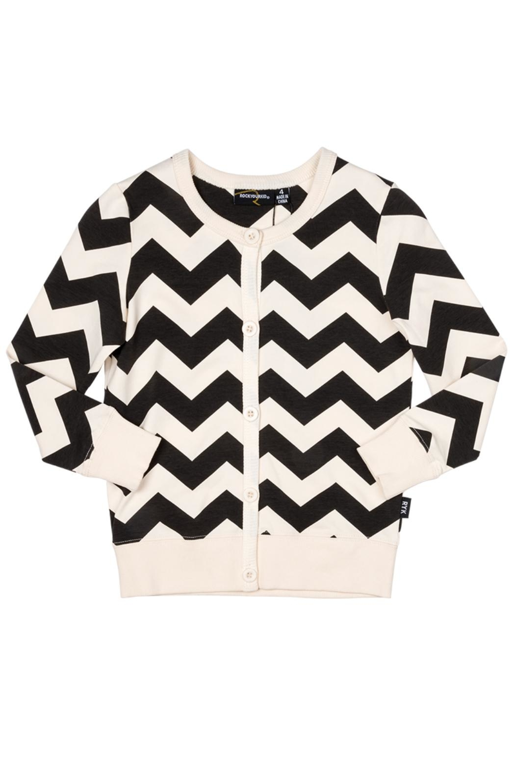 Rock Your Baby Zig Zag Cardigan - Front Cropped Image