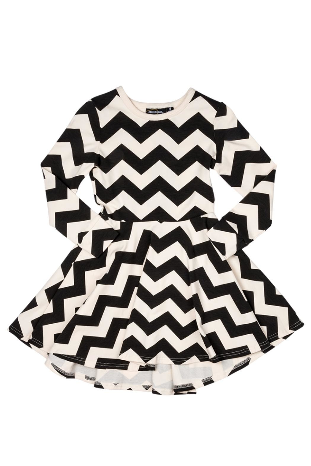 Rock Your Baby Zig Zag Dress - Front Full Image