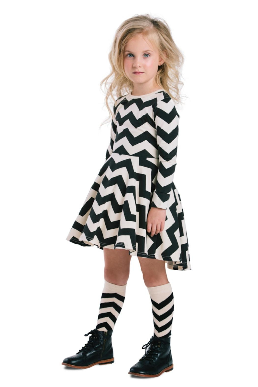 Rock Your Baby Zig Zag Dress - Front Cropped Image