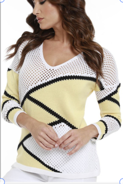 Angel Apparel Zig-Zag Netted Sweater - Alternate List Image