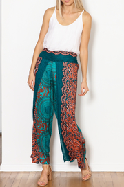 Zig Zag Palazzo Flower Pant - Side cropped