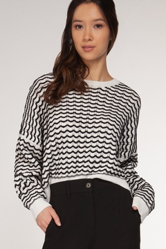 Dex/Black Tape Zig Zag Print Sweater - Alternate List Image