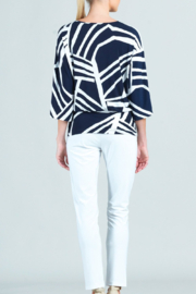 Clara Sunwoo  Zig Zag Striped Top - Front full body