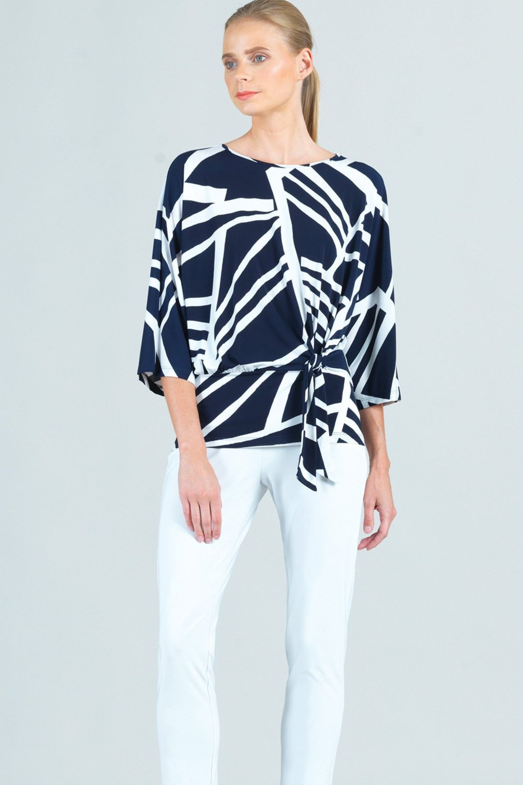 Clara Sunwoo  Zig Zag Striped Top - Front Cropped Image