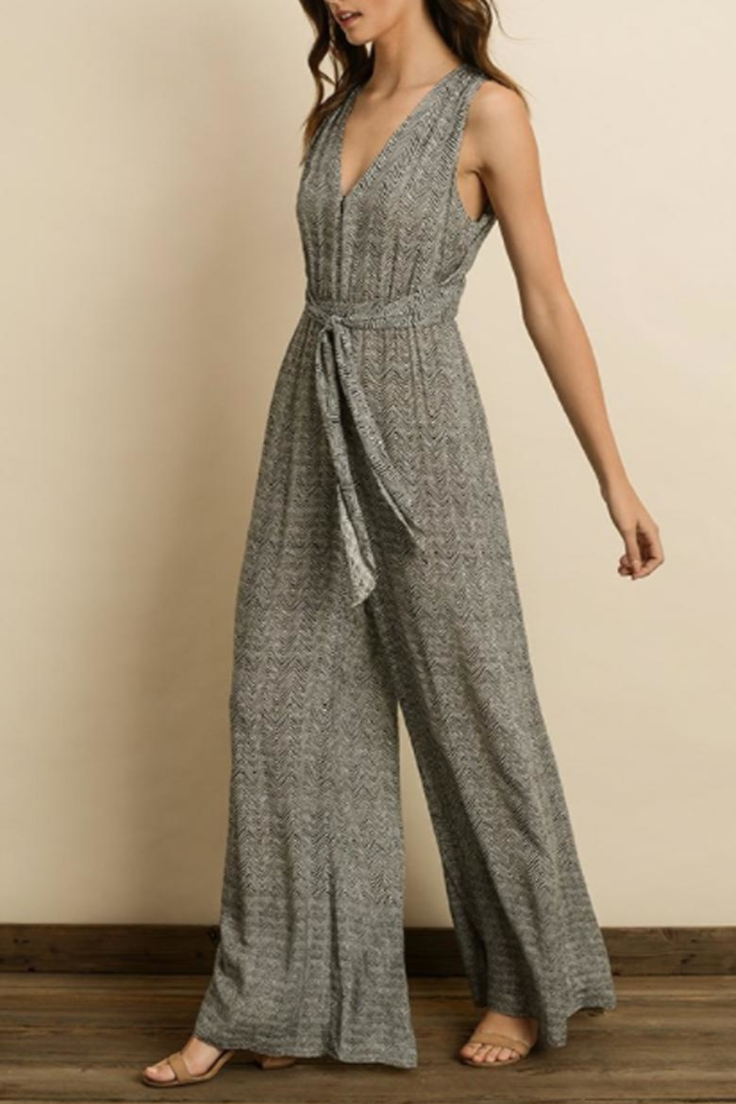 dress forum Zigzag Cutout Jumpsuit - Side Cropped Image